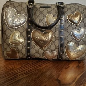 Gucci Limited Edition- Boston Joy Bag with Hearts